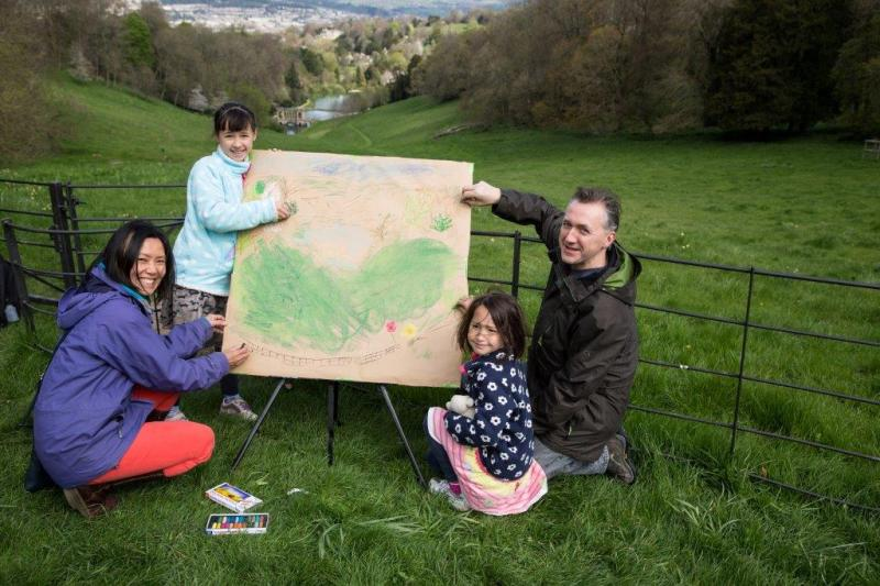 Landscape drawing at Bath World Heritage Day 2015