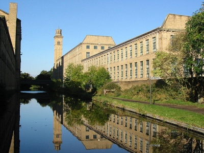 Saltaire from canal - Copyright www.photographers-resource.co.uk