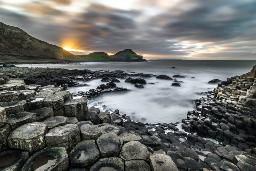 The giant's causeway, Co. Antrim, Northern Ireland